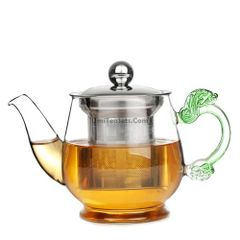 Glass Tea Pot with stainless steal infuser 12.6 ounces