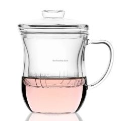 10.2 ounce glass tea cup with infuser