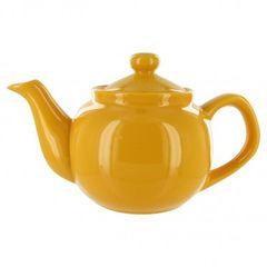 2 Cup Yellow Gloss Finish English Style Tea Pot