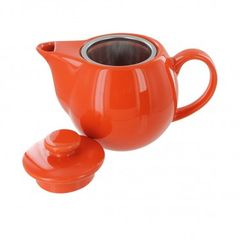 Orange Teaz Cafe Tea Pot 14 oz. with SS infuser