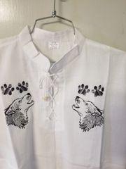 "Gauze Shirt size 42"" Medium Wolfs"