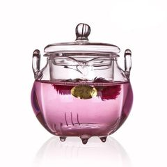 8 1/2 ounce Glass Flower Tea Pot