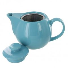 Turquoise Color Teaz Style 14 Oz. Tea Pot with Infuser