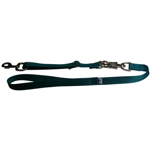 Tactical Quick Release Heavy Duty Panic Snap Adjustable Dog Leash Teal