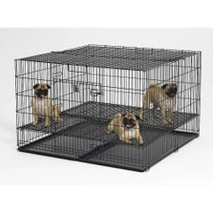 """Puppy Playpen with Plastic Pan and 1"""" Floor Grid"""