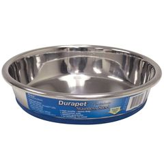 Durapet Premium Rubber-Bonded Stainless Steel Dish 1 cup