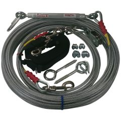 Freedom Aerial Dog Run™ Lead Line Combo Package Black