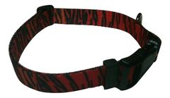 Beast-Master Polyester Dog Collar Tiger Print