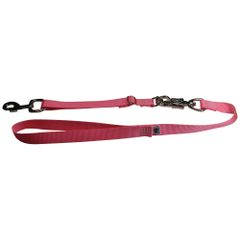 Tactical Quick Release Heavy Duty Panic Snap Adjustable Dog Leash Pink