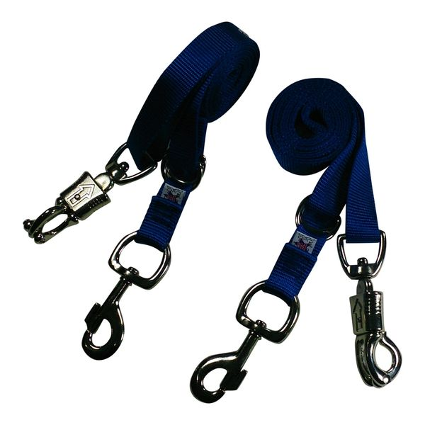 Broncobuster Adjustable Nylon Horse Cross Ties (2) Royal Blue