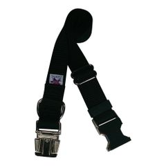 Beast-Master Nylon Dog Collar Metal Hardware-Black