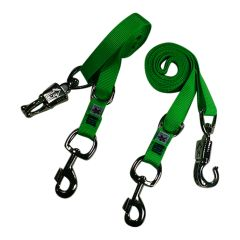 Broncobuster Adjustable Nylon Horse Cross Ties (2) Electric' Green