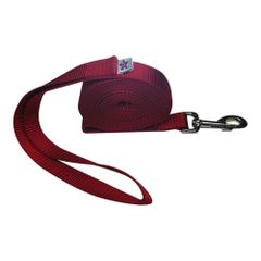 "Beast-Master 3/4"" Nylon Dog Leash Red"