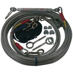 Freedom Aerial Dog Run™ Lead Line Combo Package Navy Blue