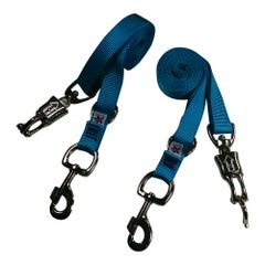 Broncobuster Adjustable Nylon Horse Cross Ties (2) Ice Blue
