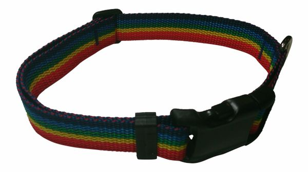 Beast-Master Polypropylene Dog Collar Rainbow Spectrum