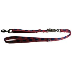 Tactical Quick Release Heavy Duty Panic Snap Adjustable Dog Leash USA FLAG