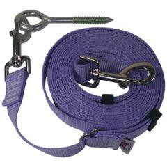 "Beast-Master Adjustable 1"" Nylon Dog Tether w/Lag Screw (Medium Dogs) Lavender"