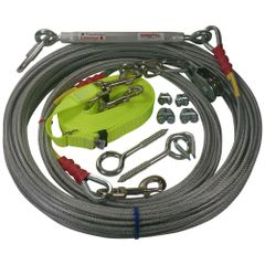 Freedom Aerial Dog Run™ Lead Line Combo Package Screamin' Yellow