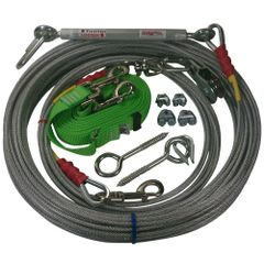 Freedom Aerial Dog Run™ Lead Line Combo Package Electric' Green