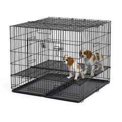 """Puppy Playpen with Plastic Pan and 1/2"""" Floor Grid"""