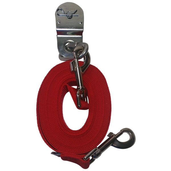 Beast-Master Polypropylene Replacement Lead Line w/Pulley-Firehouse Red