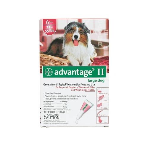Flea Control for Dogs and Puppies 21-55 lbs 6 Month Supply
