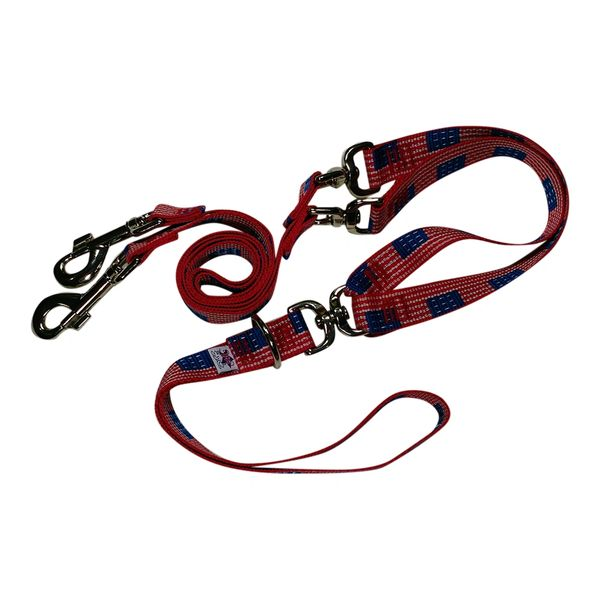 Beast-Master Double Dog Tangle-less Leash BM-PP-DDTL15 USA Flag