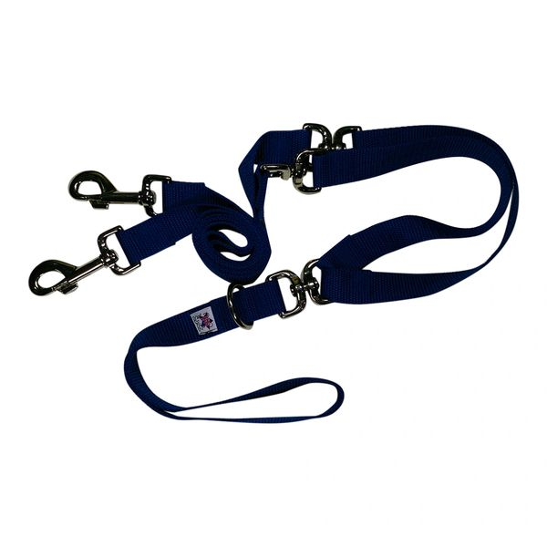 Beast-Master Double Dog Tangle-less Leash BM-PP-DDTL15 Royal Blue