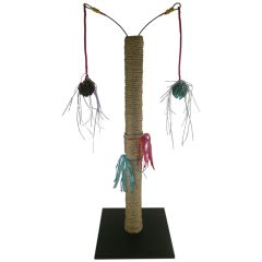 Clapperclawer Pedestal Cat Scratching Post with Danglers
