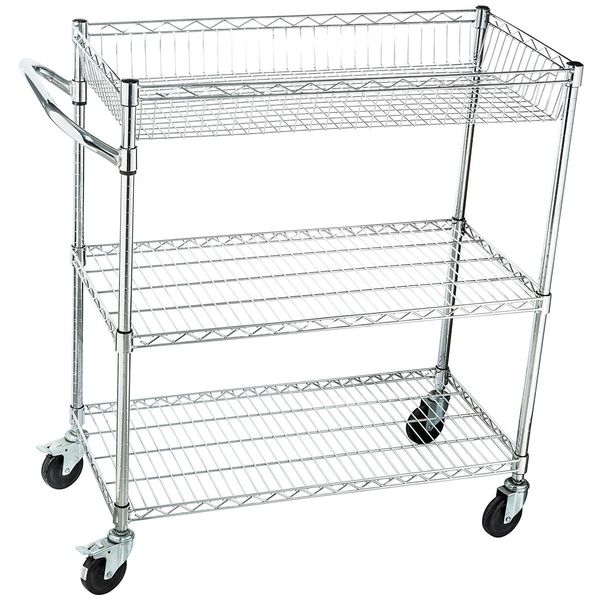 home it rolling utility cart on wheels heavy duty commercial grade or kitchen utility cart and tool cart nsf - Rolling Utility Cart