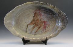 Brown Horse Carved Platter