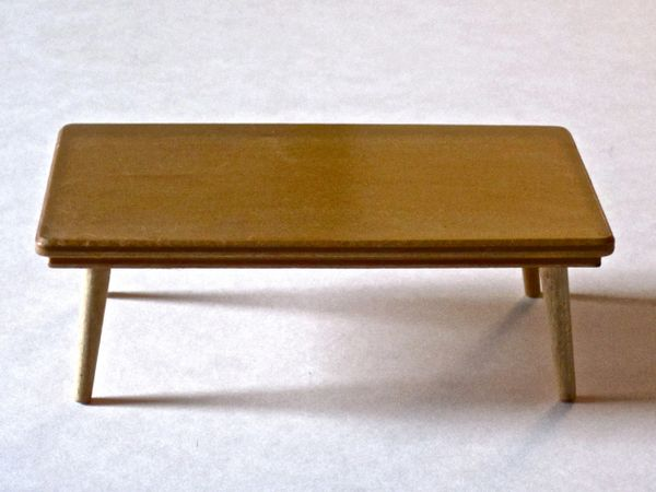 1950 S Strombecker Dollhouse Coffee Table Uncanny Artist