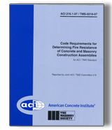 ACI-216.1M-07 Code Requirements for Determining Fire Resistance of Concrete and Masonry Construction Assemblies (Metric)
