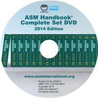 ASM-05381V-CS-DVD-2014 ASM Handbook Complete Set DVD 2014 Edition