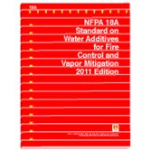 NFPA-18A(11): Standard on Water Additives for Fire Control and Vapor Mitigation