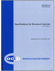 ACI-301-10 Specifications for Structural Concrete