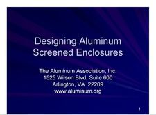 AA-DASE Designing Aluminum Screened Enclosures