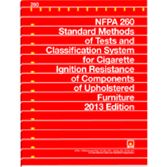 NFPA-260(13): Standard Methods of Tests and Classification System for Cigarette Ignition Resistance of Components of Upholstered Furniture