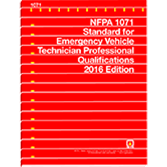 NFPA-1071-2016: Standard for Emergency Vehicle Technician Professional Qualifications