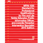 NFPA-1035(15): Standard for Professional Qualifications for Fire and Life Safety Educator, Public Information Officer, and Juvenile Firesetter Intervention Specialist