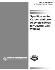 AWS- A5.2/A5.2M:2007 Carbon and Low-Alloy Steel Rods for Oxyfuel Gas Welding