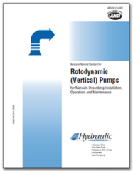 HI-B107 ANSI/HI 2.4-2014 Rotodynamic Vertical Pumps for Manuals Describing Installation, Operation, and Maintenance