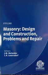 ASTM-STP1180 Masonry: Design and Construction, Problems and Repair