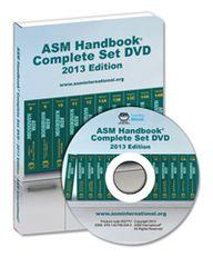 ASM-05377V-SET-DVD-2013 ASM Handbook Complete Set DVD, 2013 Edition