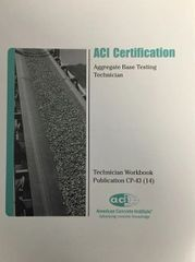 ACI-CP-43(14) Technician Workbook for ACI Certification of Aggregate Base Testing Technician (Video Presentation)