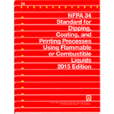 NFPA-34(15): Standard for Dipping and Coating Processes Using Flammable or Combustible Liquids
