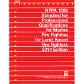 NFPA-1005(14): Standard for Professional Qualifications for Marine Fire Fighting for Land-Based Fire Fighters
