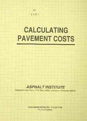 AI-IS-174 Calculating Pavement Costs