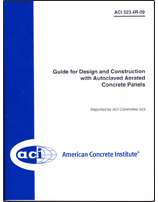 ACI-523.4R-09 Guide for Design and Construction with Autoclaved Aerated Concrete Panels